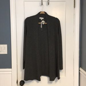 NWT Plus Size Cashmere Draped Gray Cardigan